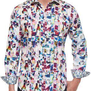 Robert Graham Magical Island Watercolor Shirt 3XL
